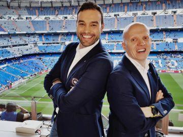 Antonio Esteva y Marcos López, comentaristas de la Champions en Atresmedia