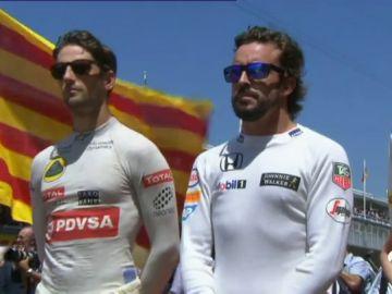 Fernando Alonso, en el GP de España