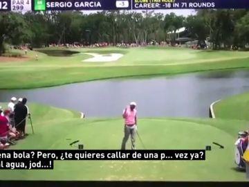 """Sergio García pierde los nervios con un niño que le apoyaba: """"¿Buena bola? ¡Te quieres callar de una p*** vez!"""""""