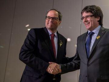 """laSexta Noticias 20:00 (15-05-18) Quim Torra y Puigdemont piden a Rajoy en una comparecencia conjunta que """"fije día y hora para empezar el diálogo"""""""