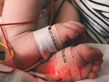 Los pies de Marina durante su hospitalización