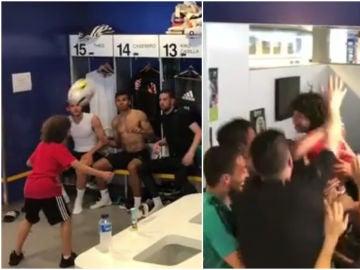 El hijo de Marcelo causa furor en el vestuario del Real Madrid