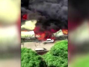 Decenas de evacuados en China por incendio