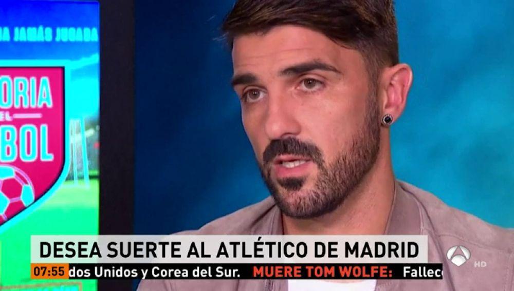 """David Villa: """"Espero que el Atlético sea campeón por el cariño que le tengo"""""""