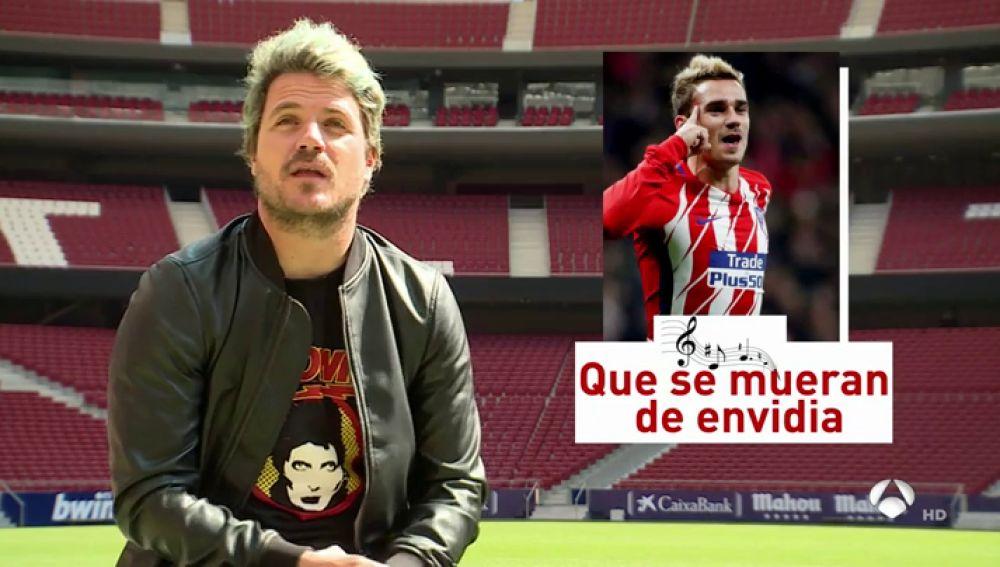 """Dani Martín habla con Antena 3 en el Metropolitano: """"Me gusta más el Atleti que el fútbol"""""""