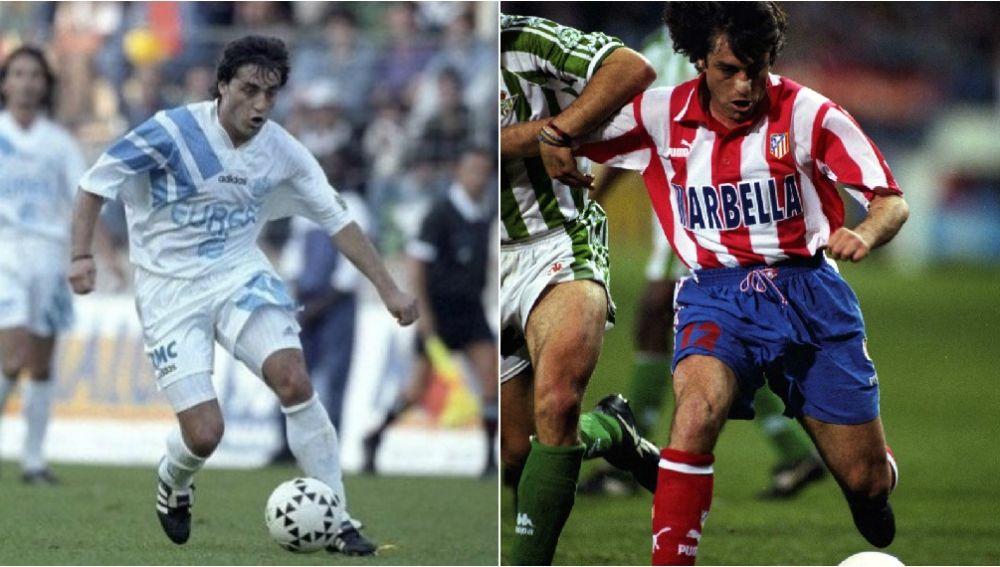 Paulo Futre, en su época con el Marsella y con el Atlético