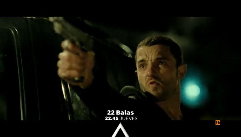 Cine de acción en Antena 3 con '22 balas'
