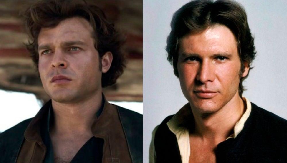 Alden Ehrenreich y Harrison Ford