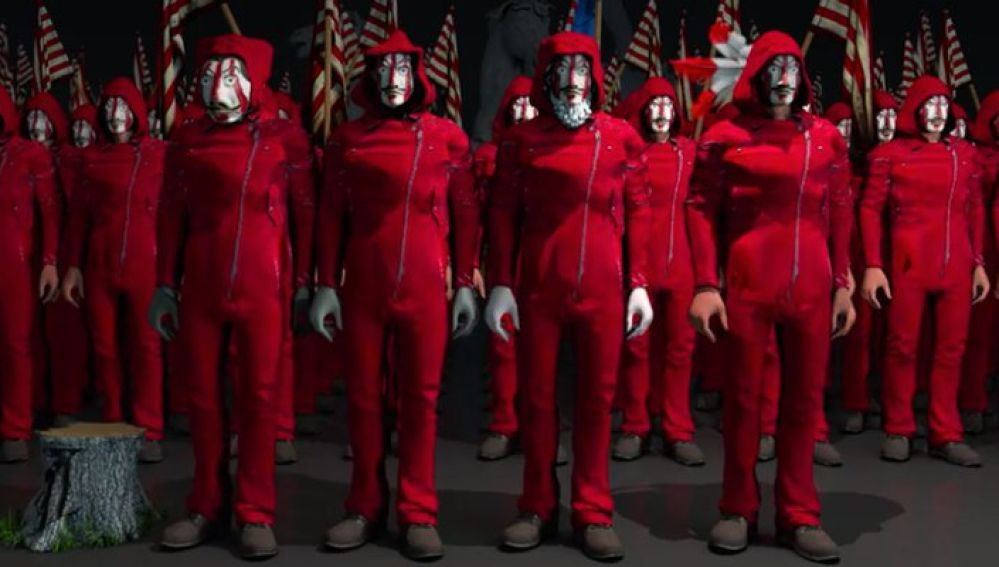 Imagen del vídeo del Atlético de Madrid versionando 'La casa de papel'