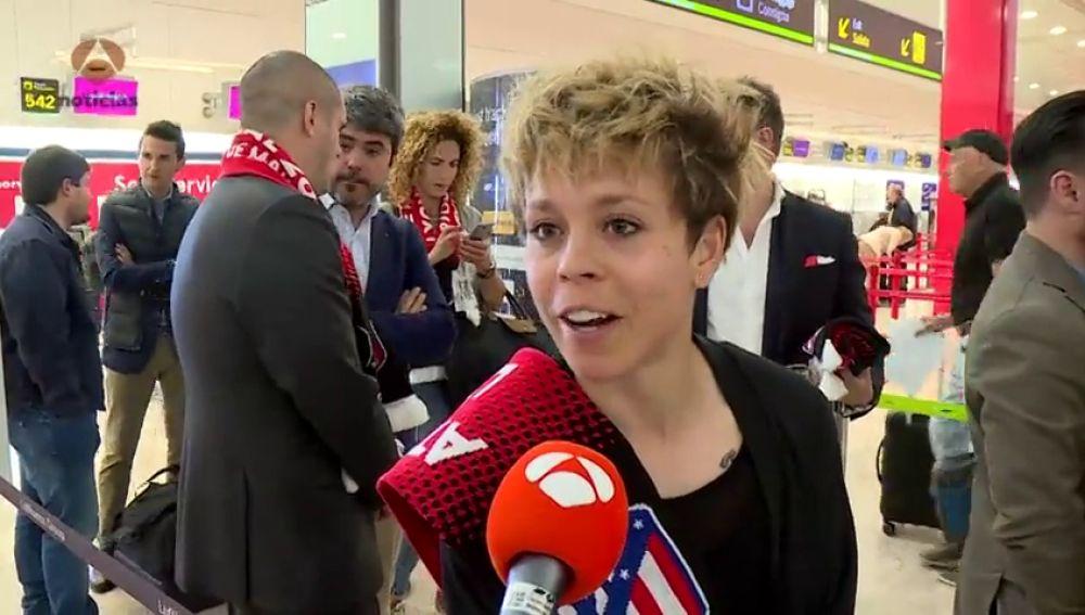 """Amanda Sampedro manda ánimos al Atlético antes de la final de la Europa League: """"Es casi como nuestra copa"""""""