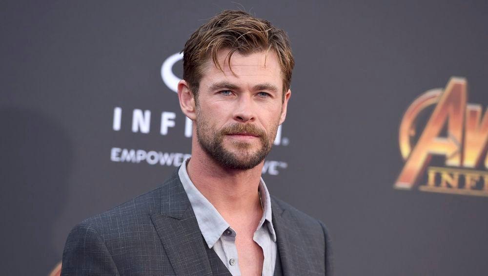 Chris Hemsworth en la premiere de 'Vengadores: Infinity War'