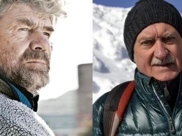 Los alpinistas Reinhold Messner y Krzysztof Wielicki