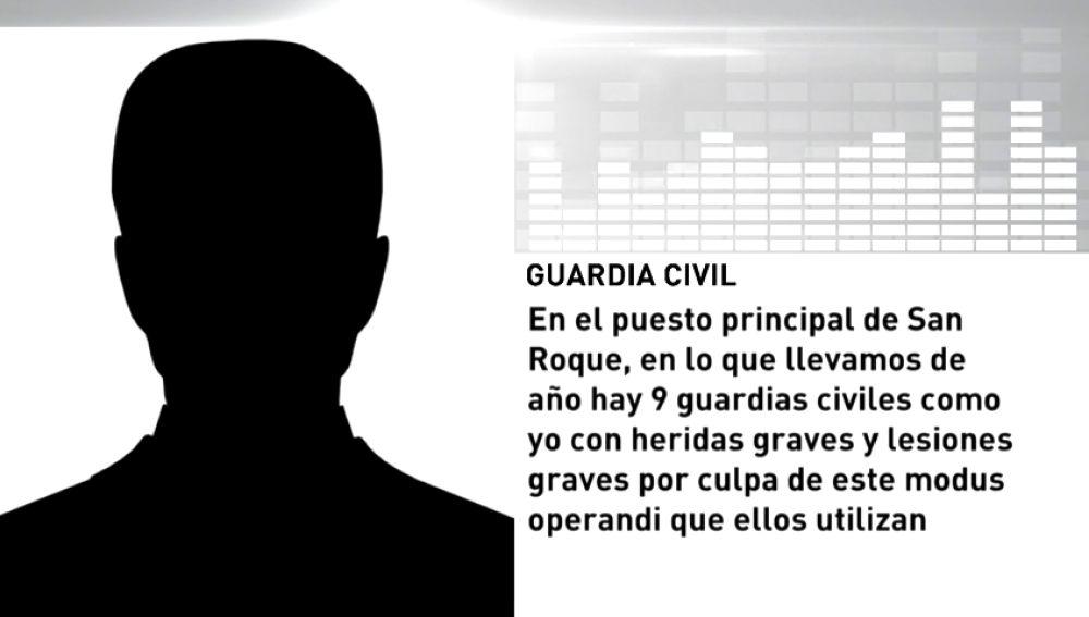 El relato de un guardia civil que fue agredido por narcotraficantes
