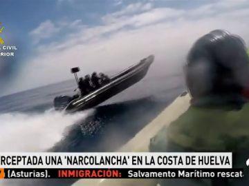 La Guardia Civil intercepta una narcolancha con dos toneladas de hachís en Huelva