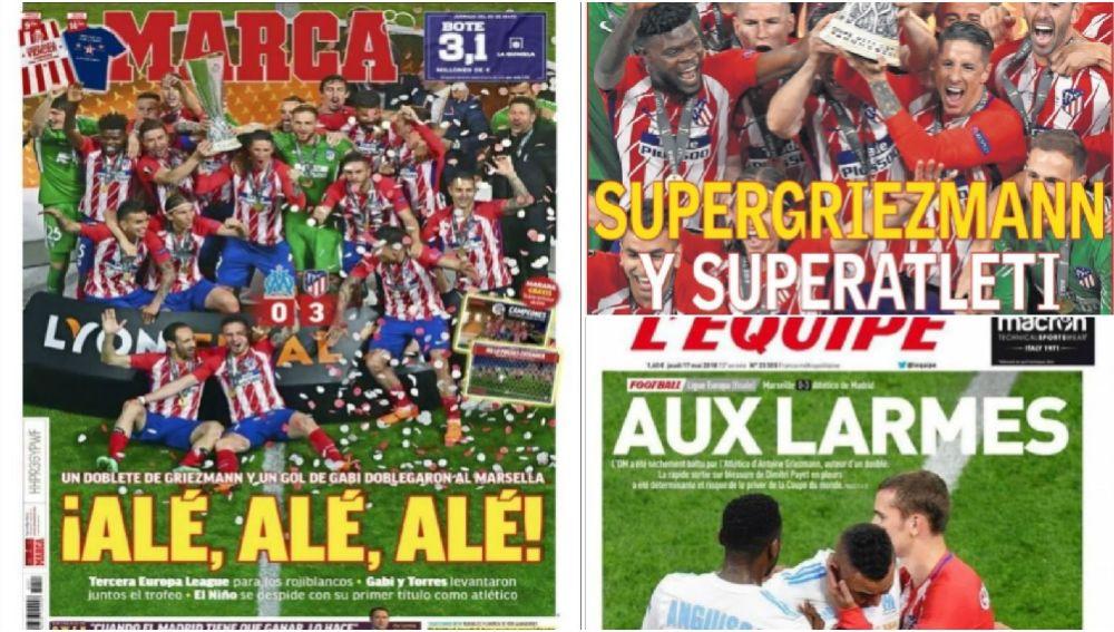 El título de la Europa League copa las portadas de la prensa