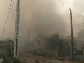 Una pirotecnia de Pontevedra registra una fuerte explosión