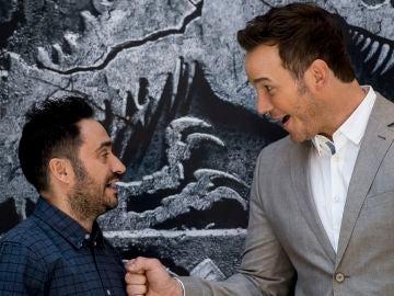 J.A. Bayona y Chris Pratt presentan en Madrid 'Jurassic World: El reino caído'