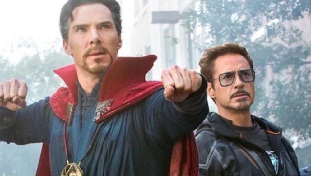 Doctor Extraño y Iron Man en 'Vengadores: Infinity War'