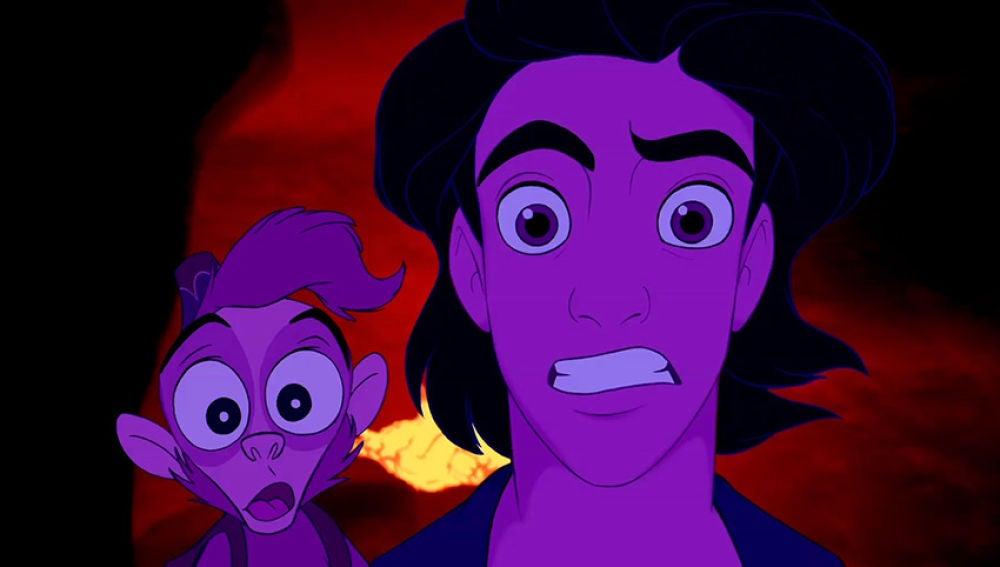 Abú y Aladdin no dan crédito a estos momentos tan turbios