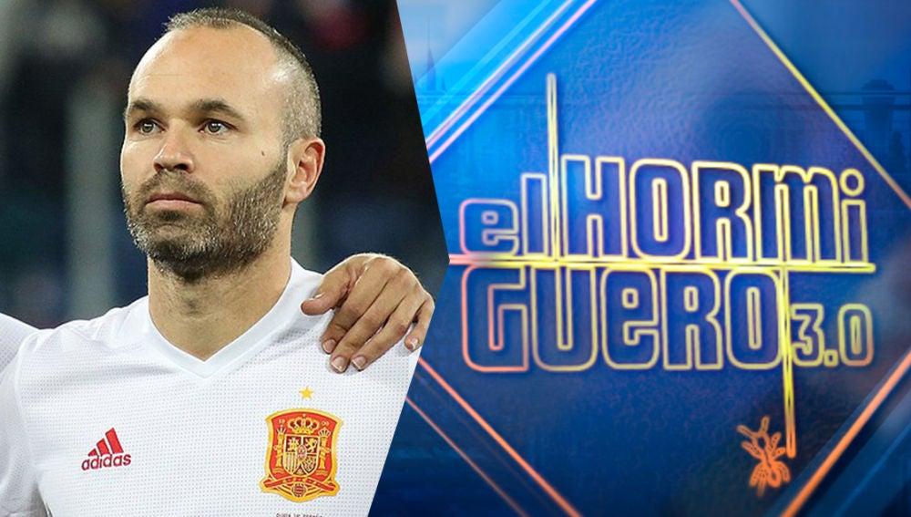 El futbolista más querido de nuestro país, Andrés Iniesta, estará por primera vez en 'El Hormiguero 3.0'