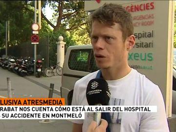 """Tito Rabat habla de su accidente en Montmeló: """"Recuerdo estar en el suelo, me intenté levantar y me mareé"""