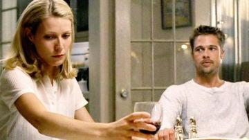Gwyneth Paltrow y Brad Pitt en 'Seven'