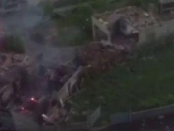 Así se ve la explosión de Tui desde el aire