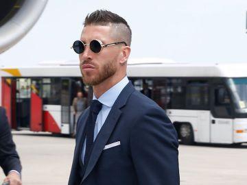 Sergio Ramos, en la expedición del Real Madrid