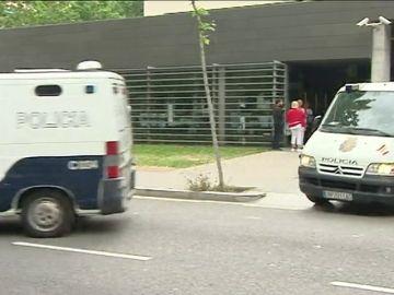 Cinco de los 29 detenidos en la operación Estela llegan a la Ciutat de la Justicia de Barcelona