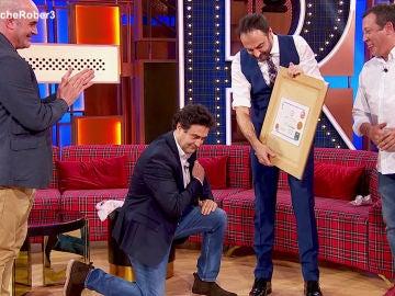 La sorpresa inolvidable de Guillermo y José, los mejores amigos de Pepe Rodríguez  en 'La noche de Rober'