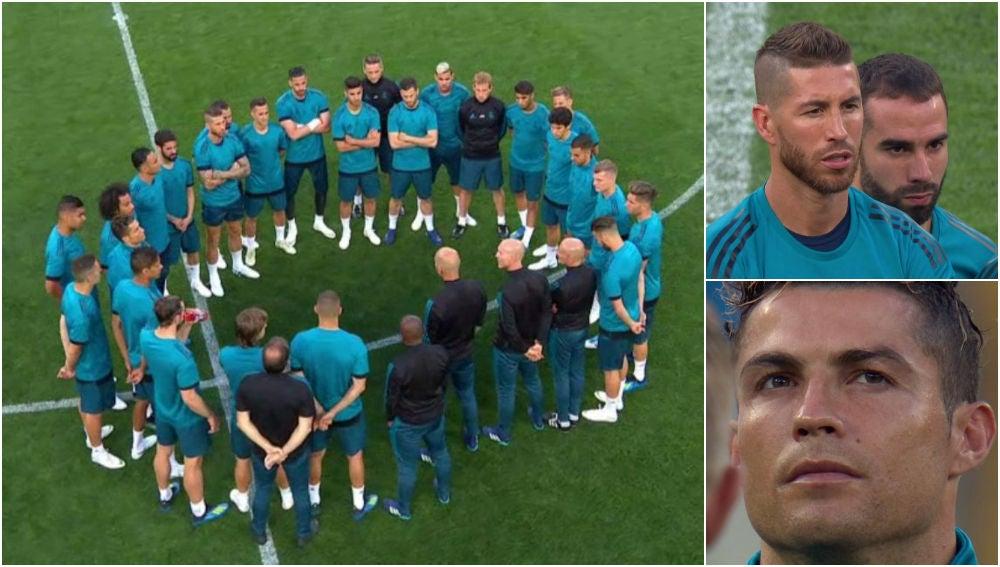 La charla del Real Madrid en Kiev antes de la final de Champions