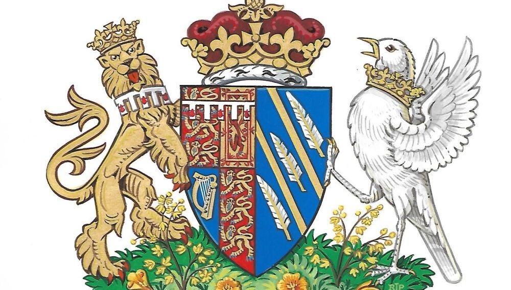 Imagen facilitada por el Palacio Kensington que muestra el escudo de armas de la duquesa