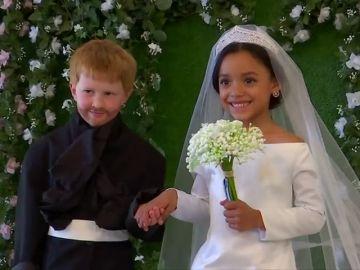 Boda infantil en Nueva York imitando el enlace del príncipe Harry Y Meghan Markle