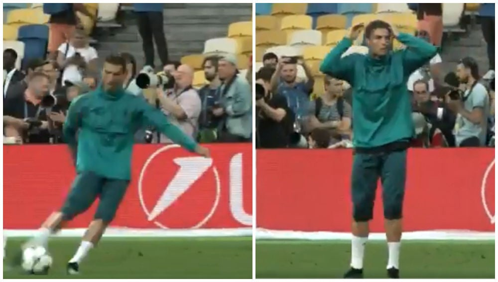 Ronaldo en el momento en el que disparó