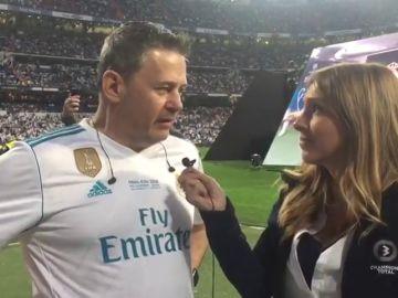 Miki Nadal, animador de la fiesta en el Bernabéu, confía en la victoria del Madrid
