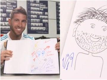 Los dibujos de los finalistas de la Champions de sí mismos
