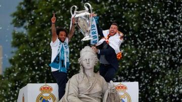 Ramos y Marcelo en Cibeles