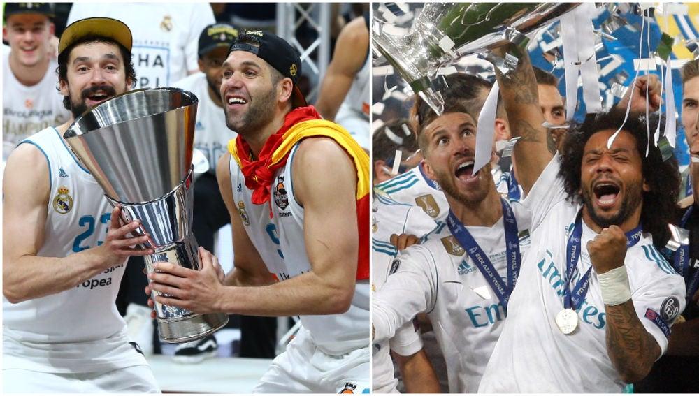 El Real Madrid, campeón de Europa en baloncesto y fútbol