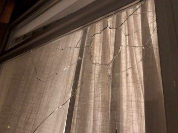 Así ha quedado la ventana del concejal Bastenier