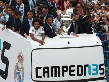 El Real Madrid llega a Cibeles