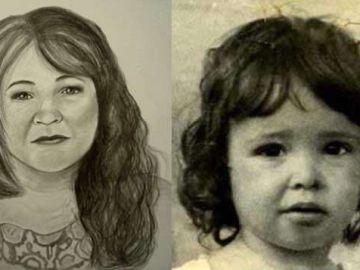 Imagen de Diane cuando desapareció y el aspecto que tendría ahora