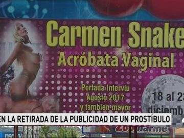 """Piden la retirada de un anuncio de un prostíbulo de Huelva que ofrece un número de una """"acróbata vaginal"""""""