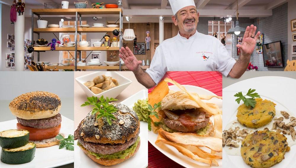Diez sabrosas recetas de Karlos Arguñano para celebrar el 'Día de la hamburguesa'