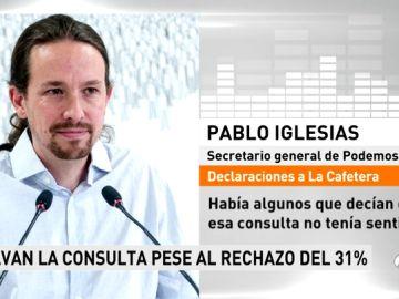 """Iglesias no se arrepiente de decir que le gustaría vivir siempre en Vallecas, pero matiza: """"Cuando uno va a tener hijos es legítimo que quiera darles una vida algo diferente"""""""