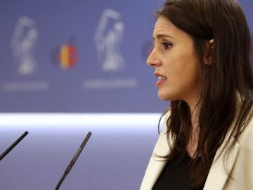 La portavoz de Podemos, Irene Montero