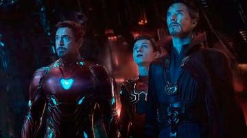 Iron Man, SpiderMan y Doctor Extraño en 'Infinity War'