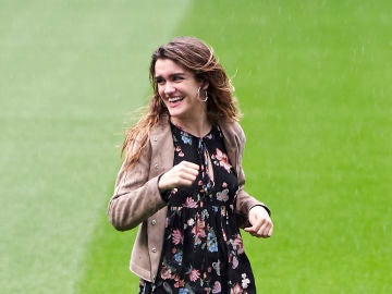 Amaia Romero en la presentación del concierto 'OT Bernabéu'