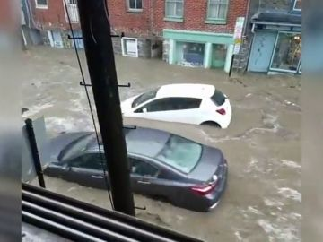 Las fuertes lluvias provocan fuertes inundaciones en gran parte de Maryland, en Estados Unidos