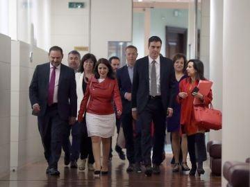 Reunión del PSOE en el Congreso de los Diputados
