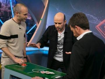 El partido mágico de Jandro, Andrés Iniesta y Pablo Motos en 'El Hormiguero 3.0'